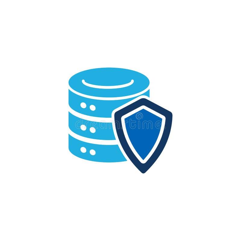 Protetor Database Logo Icon Design ilustração royalty free