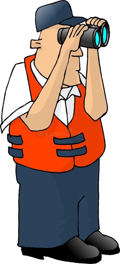 Download Protetor de costa dos E.U. ilustração stock. Ilustração de homens - 57854