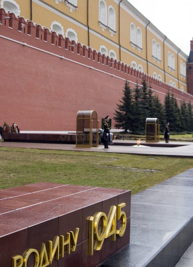 Protetor de honra no túmulo do soldado desconhecido fotos de stock royalty free