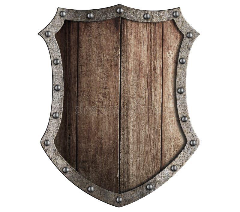 Protetor de madeira medieval isolado imagens de stock royalty free