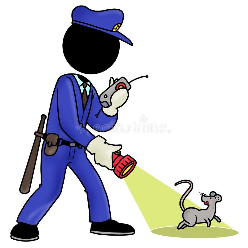 Protetor de segurança ilustração stock