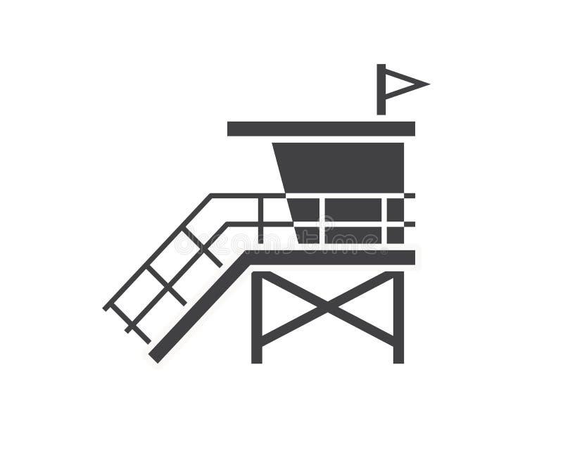 Protetor de vida House Icon da praia ilustração do vetor