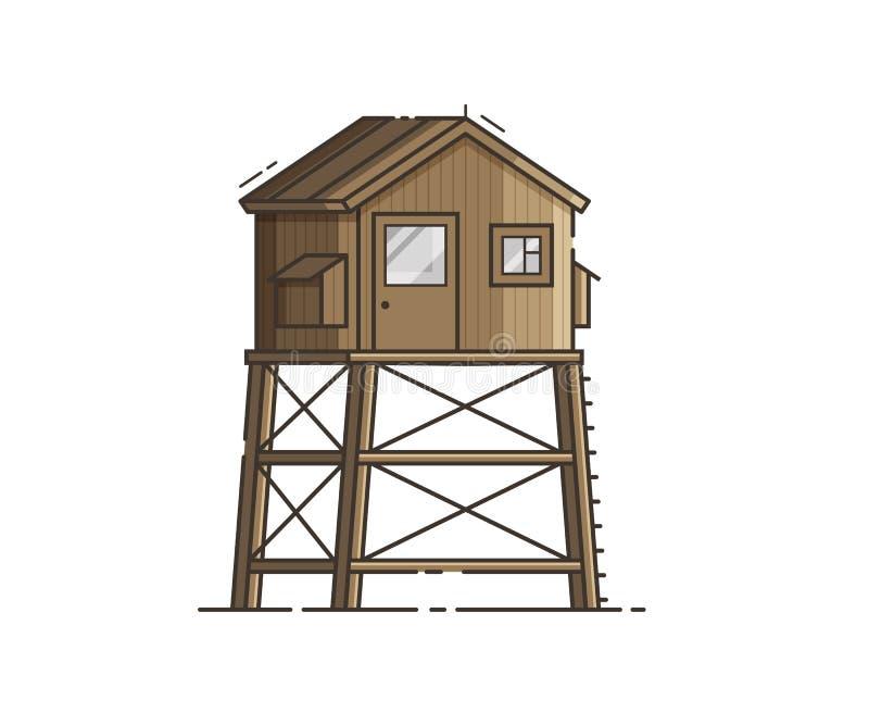 Protetor de vida House Vetora Illustration da praia ilustração royalty free