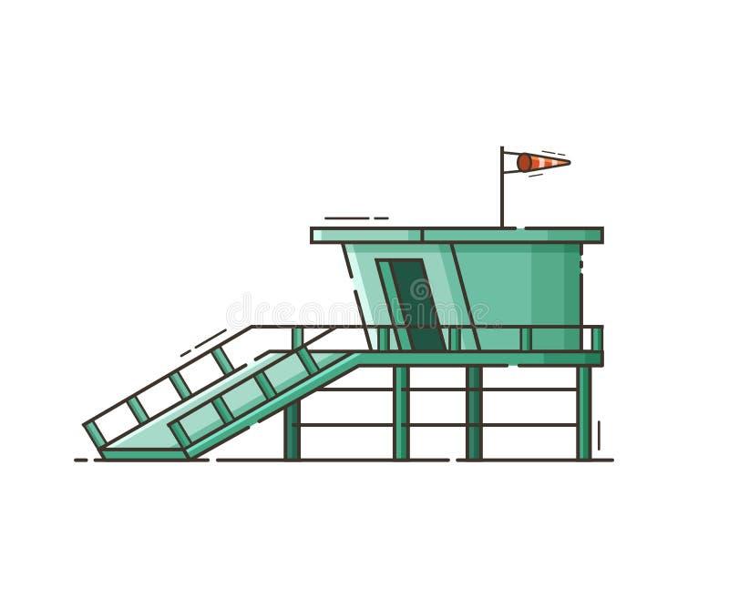 Protetor de vida House Vetora Illustration da praia ilustração do vetor
