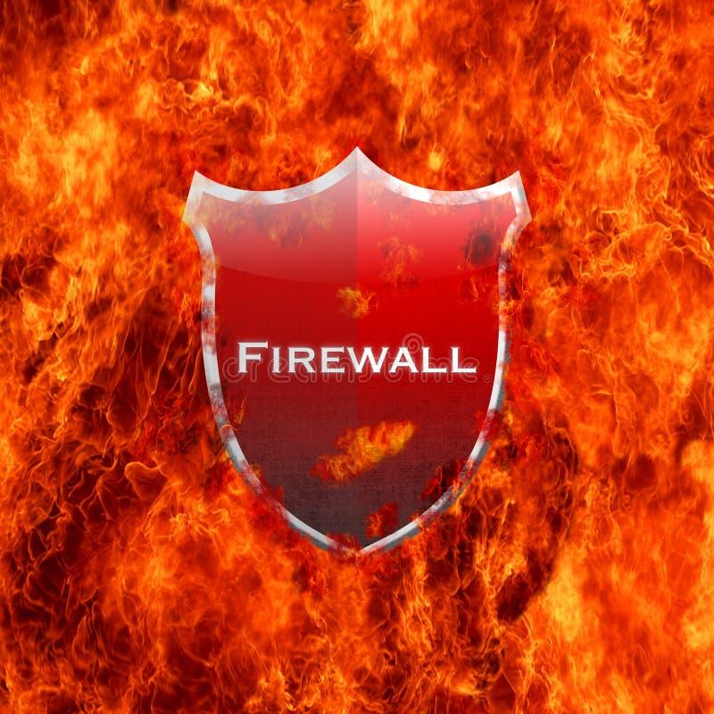 Protetor do guarda-fogo. ilustração stock