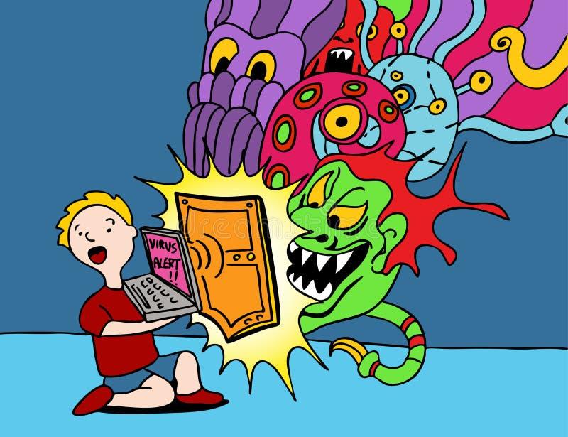 Protetor do vírus ilustração royalty free