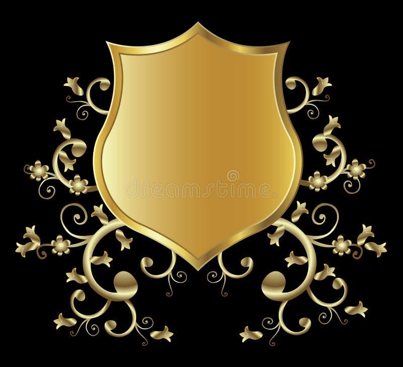 Protetor dourado ilustração royalty free