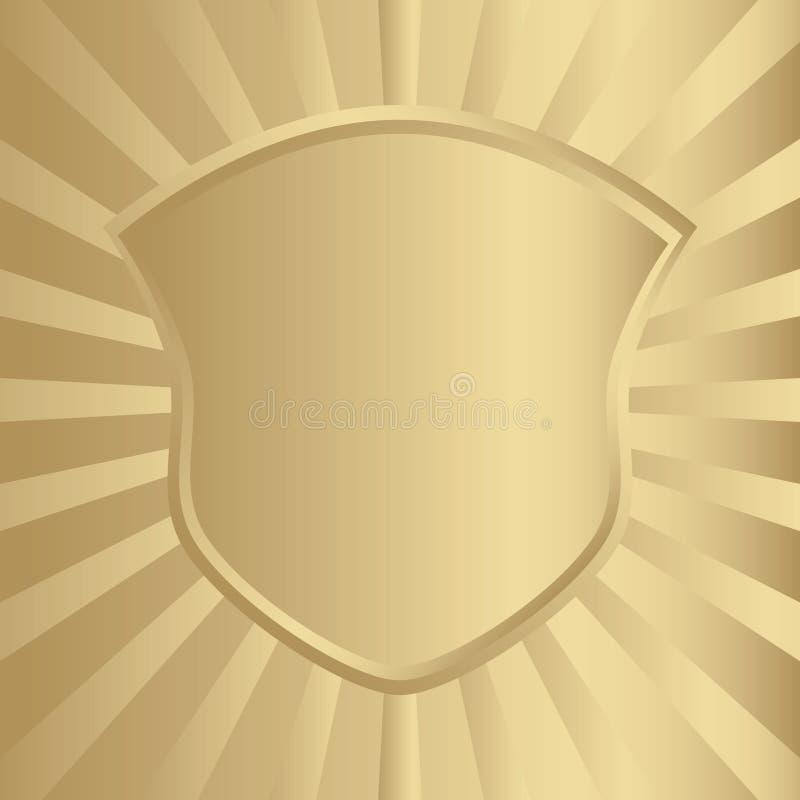Protetor dourado ilustração stock