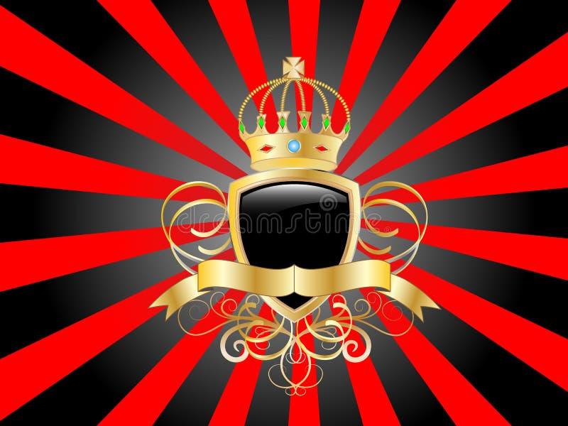 Protetor dourado do vetor ilustração royalty free