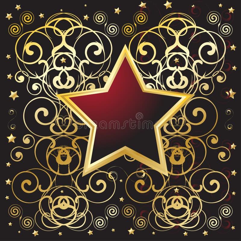 Protetor dourado floral ilustração royalty free