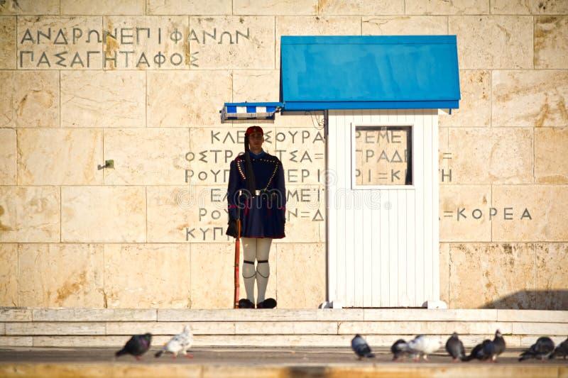 Protetor em Atenas imagem de stock