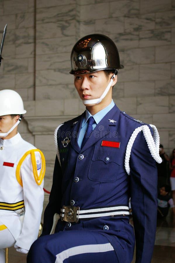 Protetor em mudança em Taiwan imagem de stock