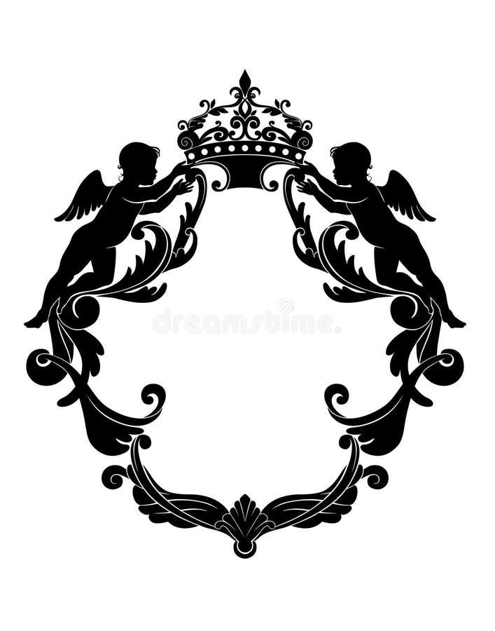 Protetor heráldico ilustração royalty free