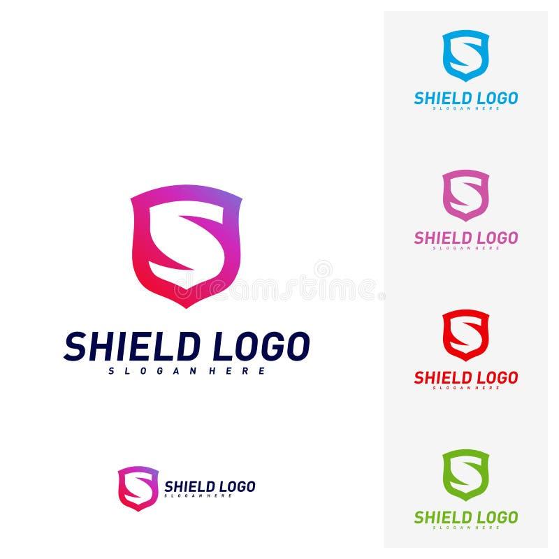 Protetor inicial Logo Design Concepts de S Projeto da ilustra??o do vetor do protetor da letra de S S?mbolo do ?cone ilustração do vetor