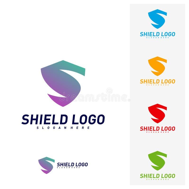 Protetor inicial Logo Design Concepts de S Projeto da ilustra??o do vetor do protetor da letra de S S?mbolo do ?cone ilustração stock