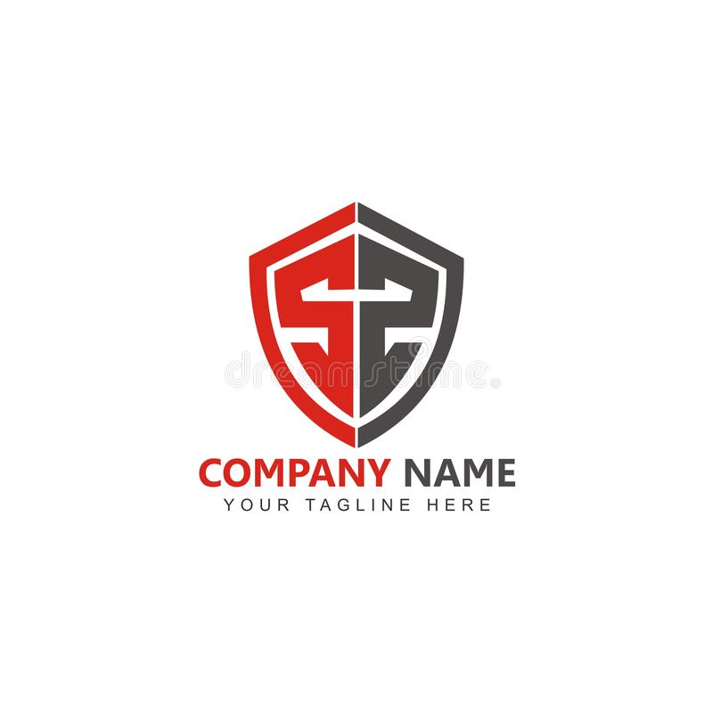 Protetor Logo Design Inspiration Vetora da letra S ilustração do vetor