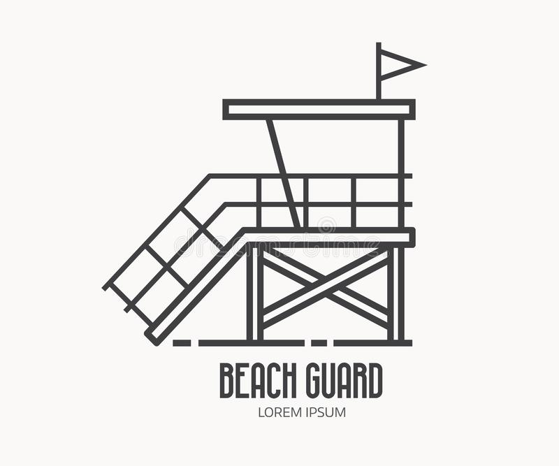 Protetor Logo Template da praia ilustração stock
