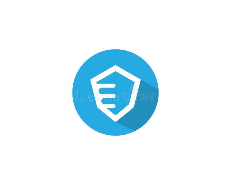 Protetor Logo Template ilustração do vetor
