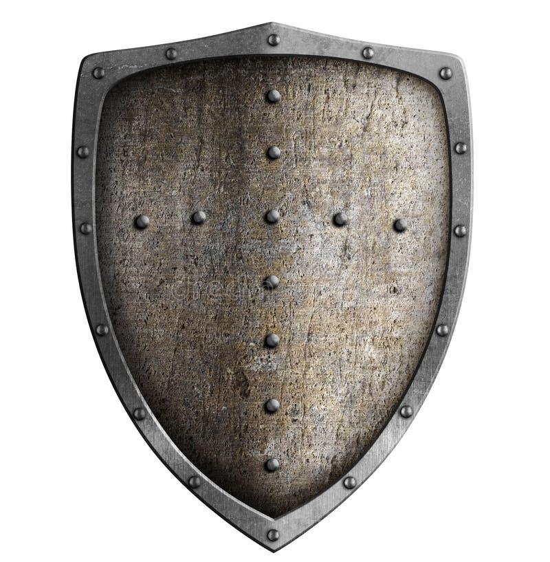 Protetor medieval do metal isolado fotos de stock