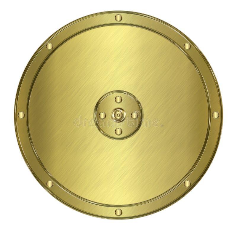 Protetor ou crista dourada do metal ilustração do vetor