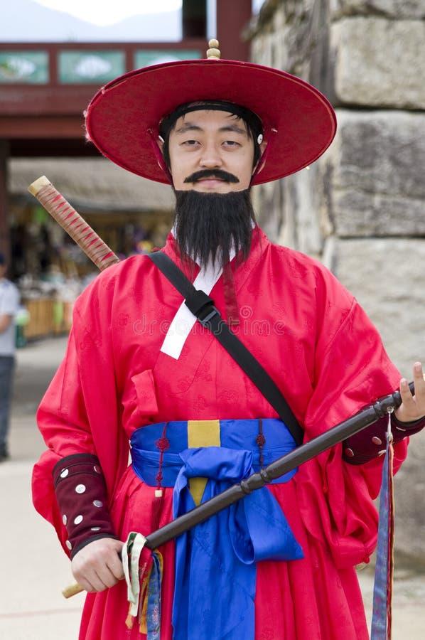 Protetor para o sul coreano imagem de stock