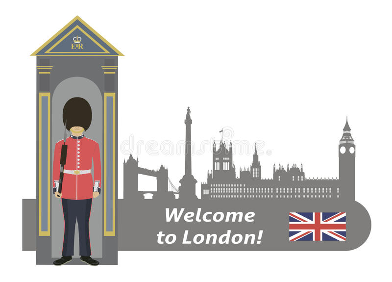 Protetor real britânico ilustração do vetor