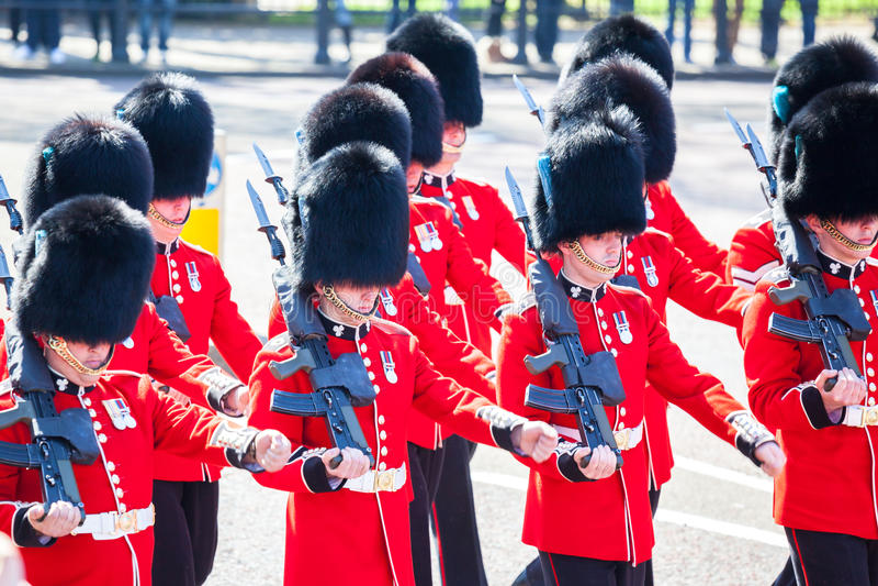 Protetor real no Buckingham Palace foto de stock royalty free