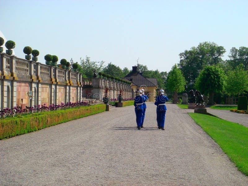 Protetor real sueco em Drottningholm, Suécia fotos de stock royalty free