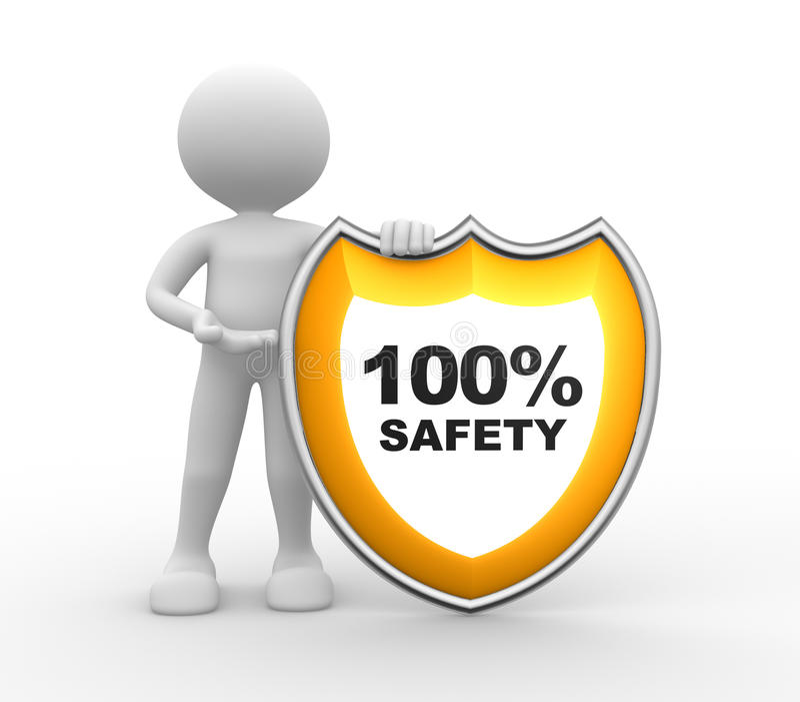 Protetor. SEGURANÇA 100% ilustração do vetor