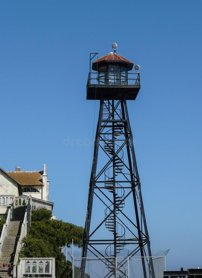 Protetor Tower de Alcatraz fotos de stock