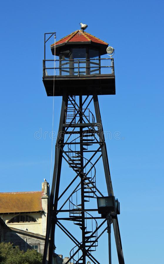 Protetor Tower em Alcatraz foto de stock royalty free