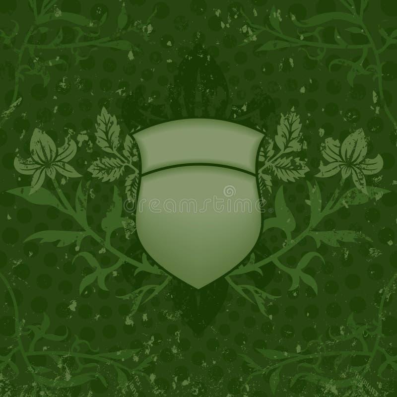 Protetor verde de Grunge ilustração royalty free