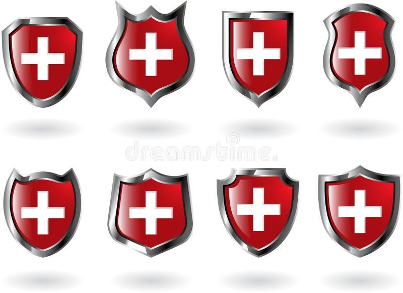 Protetor vermelho ilustração royalty free
