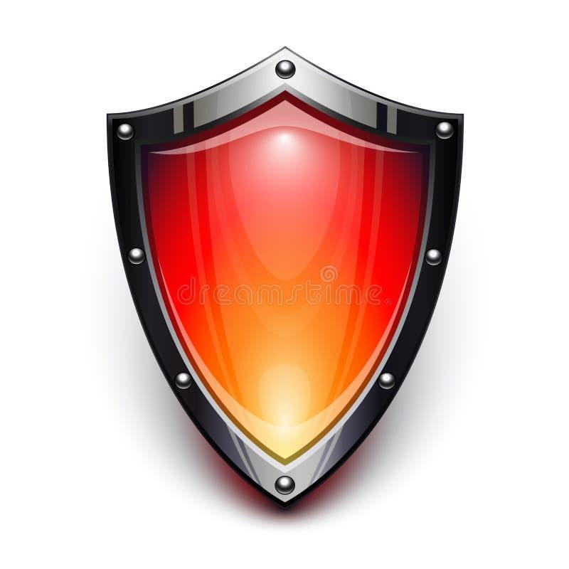 Protetor vermelho da segurança ilustração royalty free