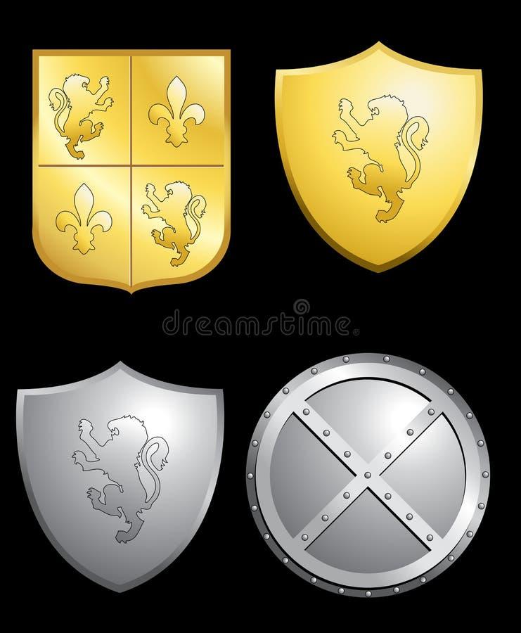 protetores ilustração royalty free