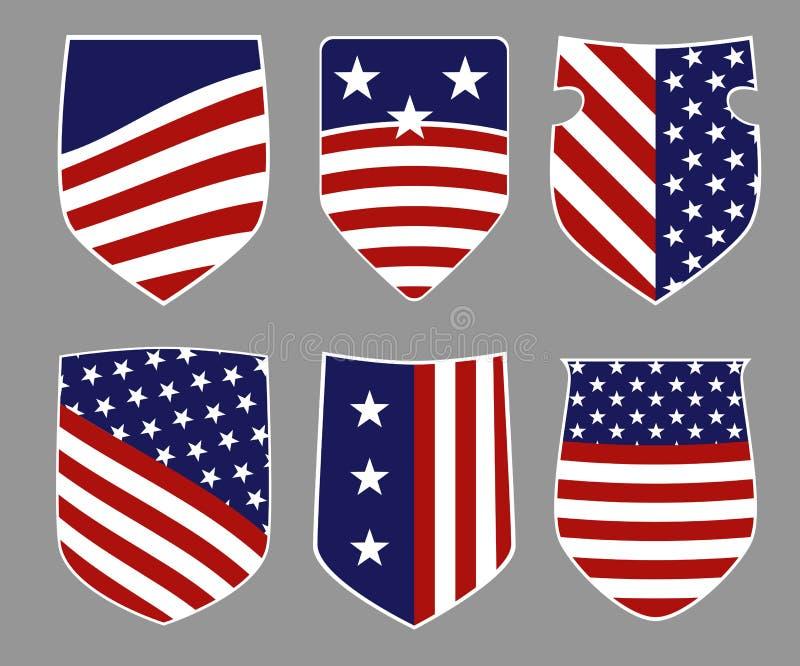 Protetores americanos ilustração do vetor