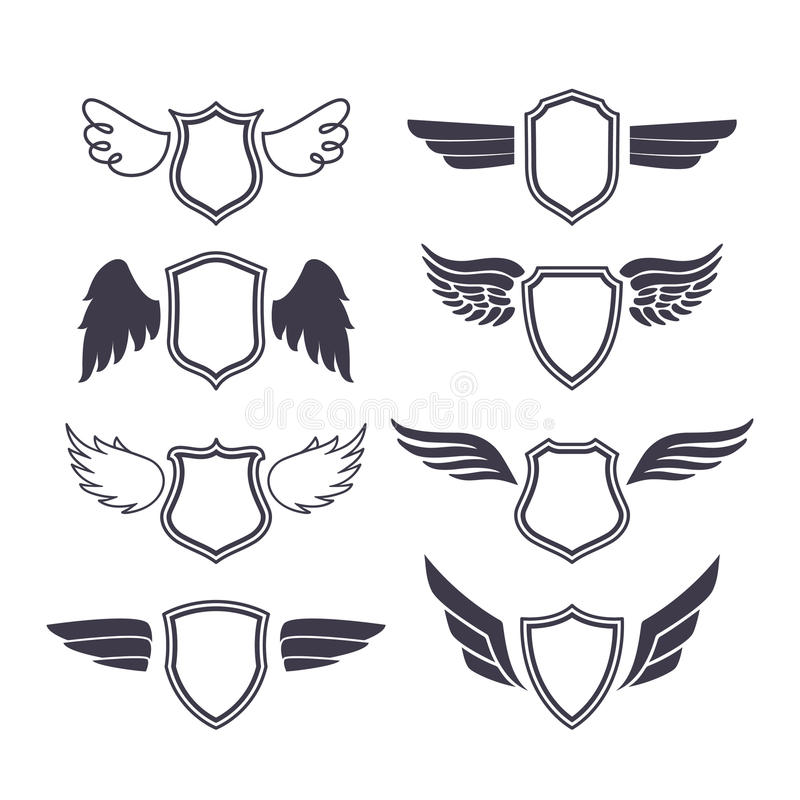 Protetores com asas ilustração royalty free