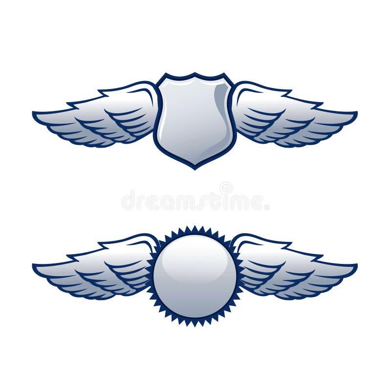 Protetores com asas ilustração stock