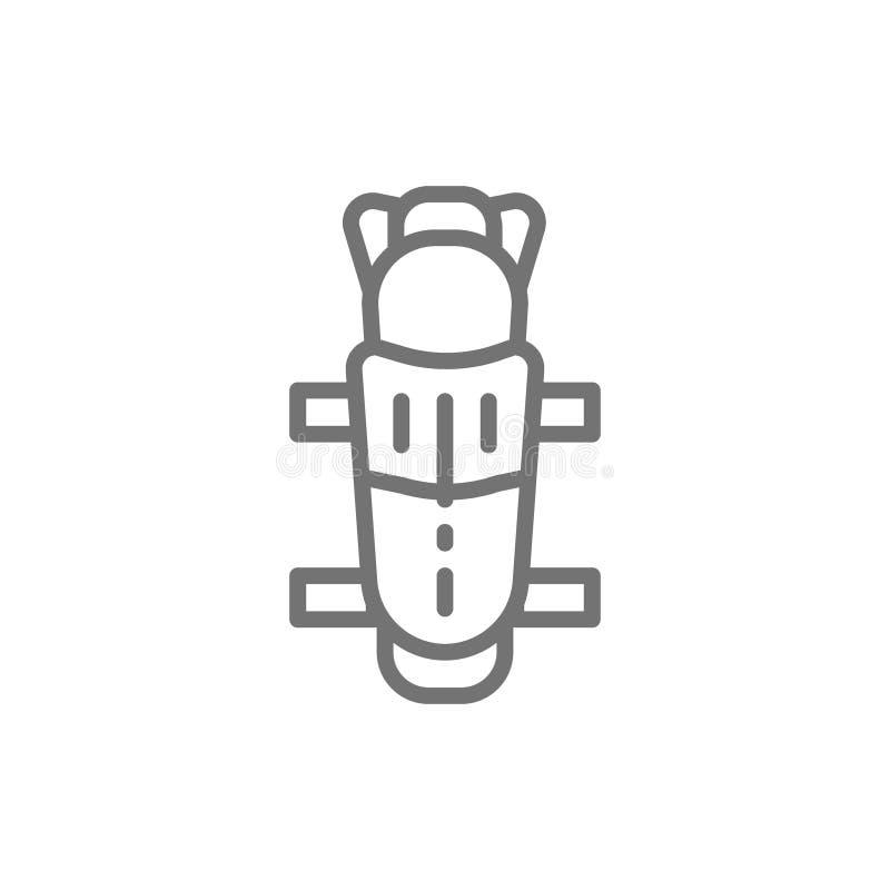Protetores de canela do hóquei, linha uniforme ícone da proteção ilustração stock