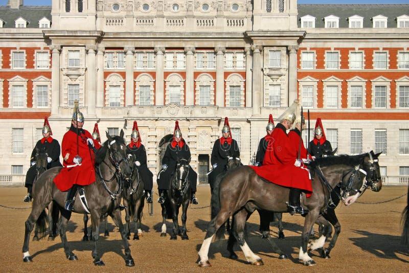Protetores de cavalo em Londres imagem de stock royalty free