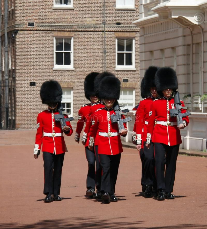 Protetores de marcha de ingleses foto de stock royalty free