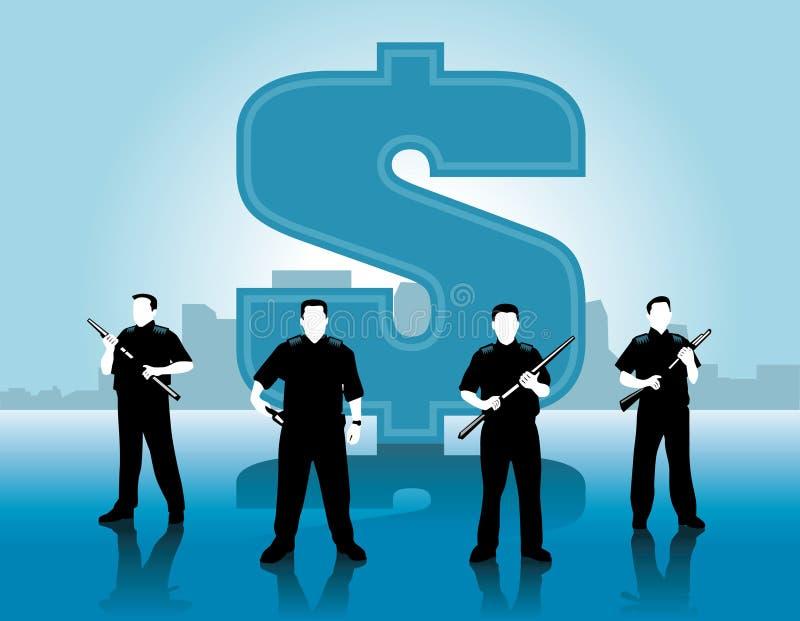 Protetores do dinheiro ilustração stock