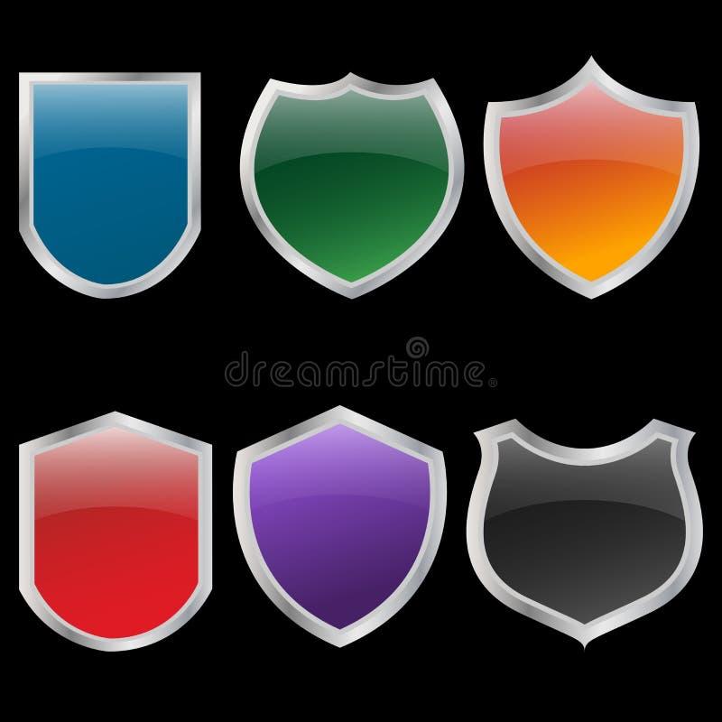 Protetores do metal ajustados ilustração do vetor