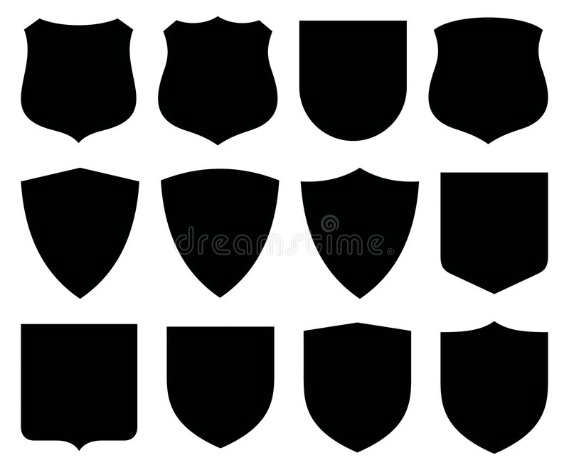 Protetores/etiquetas ilustração royalty free