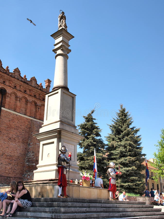 Protetores, Sandomierz, Poland imagens de stock