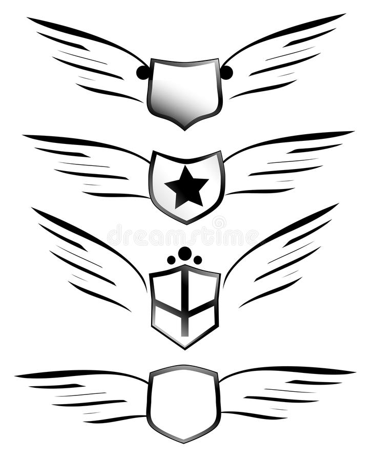 Protetores voados ilustração do vetor