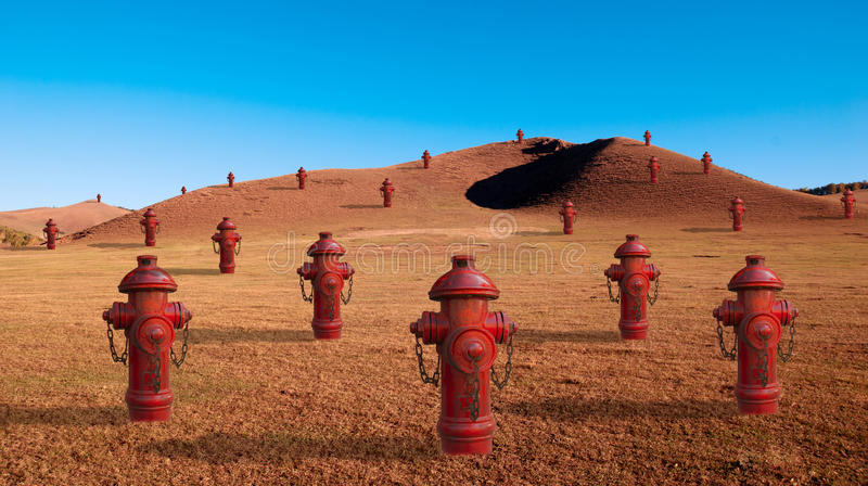 Protezione antincendio (disegno creativo) fotografia stock libera da diritti