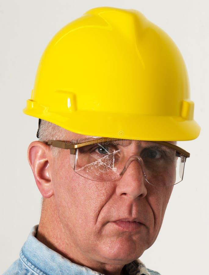 Protezione degli occhi, occhiali di protezione, incidente, industriale fotografia stock