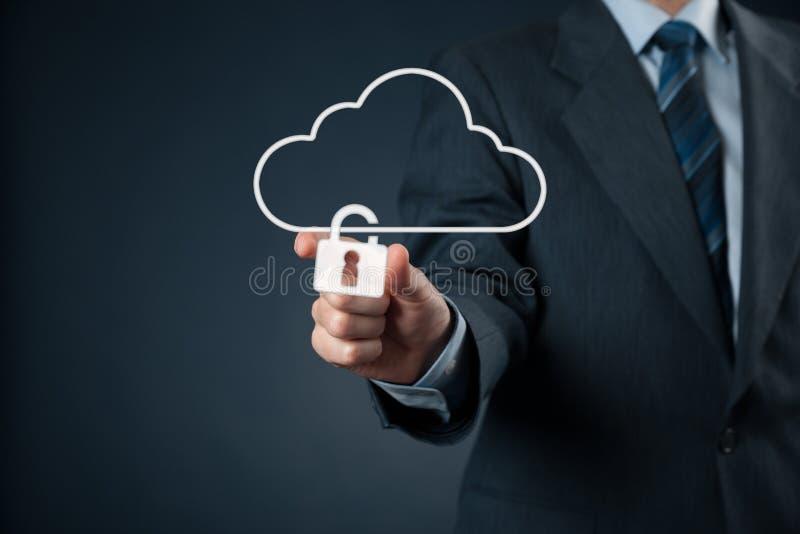 Protezione dei dati della nuvola fotografia stock