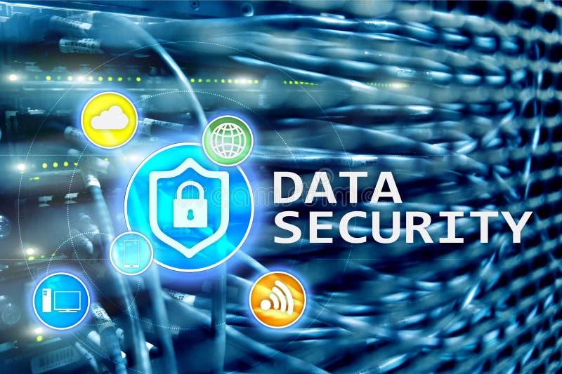 Protezione dei dati, prevenzione di crimine cyber, protezione delle informazioni di Digital Chiuda le icone ed il fondo a chiave  fotografia stock libera da diritti